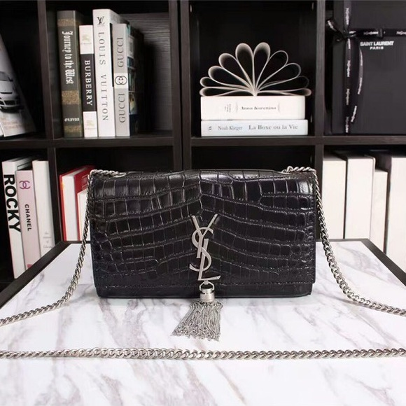 YSL Medium Kate Chain Bag in Crocodile Leather 1b0bef462ec2a